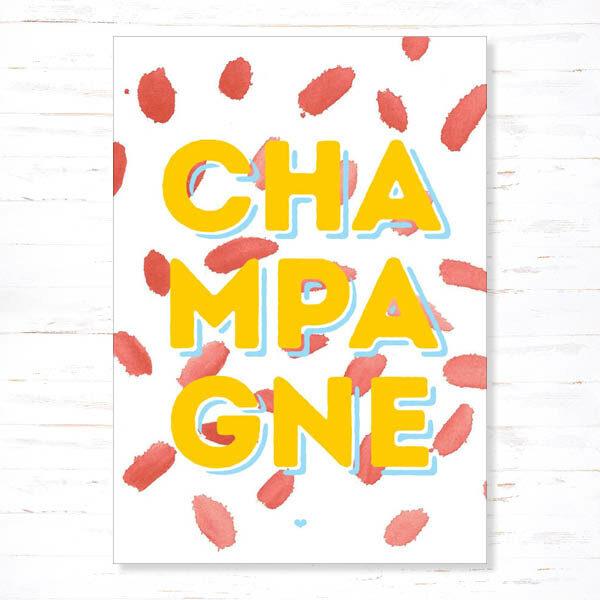 Withloov Postkaart Feest Champagne