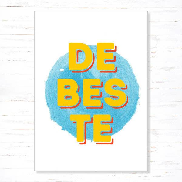 Withloov Postkaart Papa De Beste