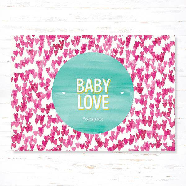 Withloov Postkaart Geboorte Babylove