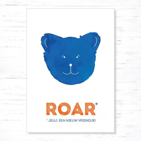 Withloov Postkaart Geboorte Roar nieuw vriendje