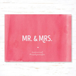 Postkaart Huwelijk Mr Mrs
