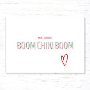 Withloov Postkaart Liefde Mon coeur fait boom chiki boom