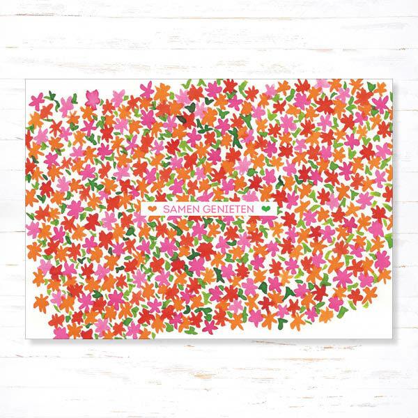 Withloov Postkaart Feest Samen genieten