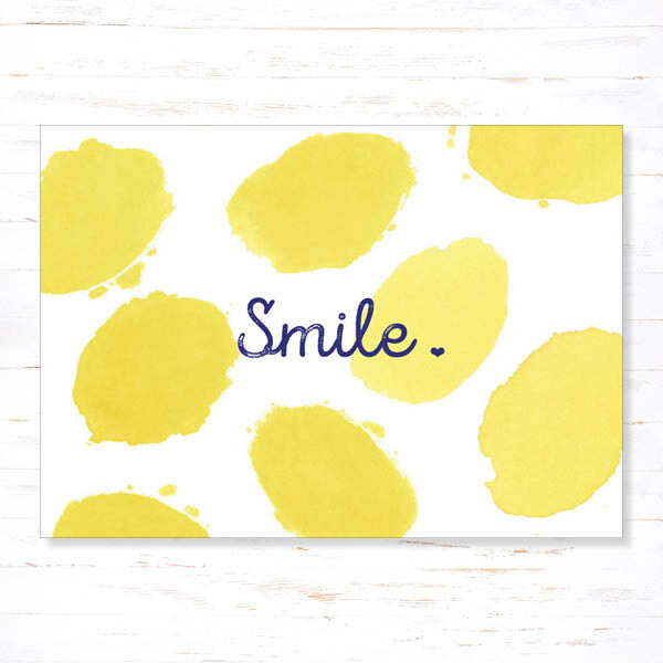 Withloov Postkaart Quote Smile