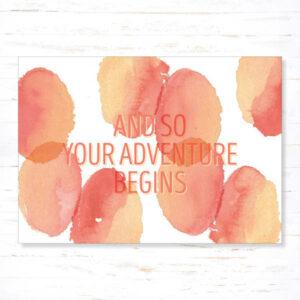 Withloov Postkaart Succes Your adventure begins
