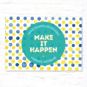 Withloov Postkaart Succes Make it happen