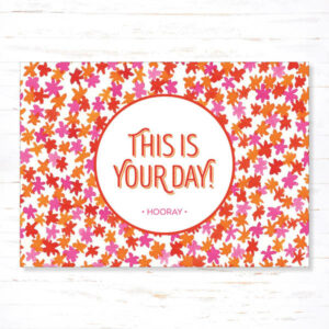 Withloov Postkaart Feest This is your day