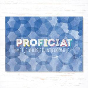 Withloov Postkaart Verhuis Proficiat met je huisje tuintje boompje