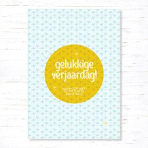 Withloov Postkaart Verjaardag Gelukkige verjaardag