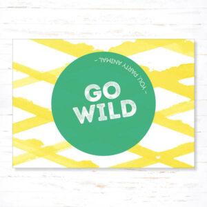 Withloov Postkaart Verjaardag Go Wild