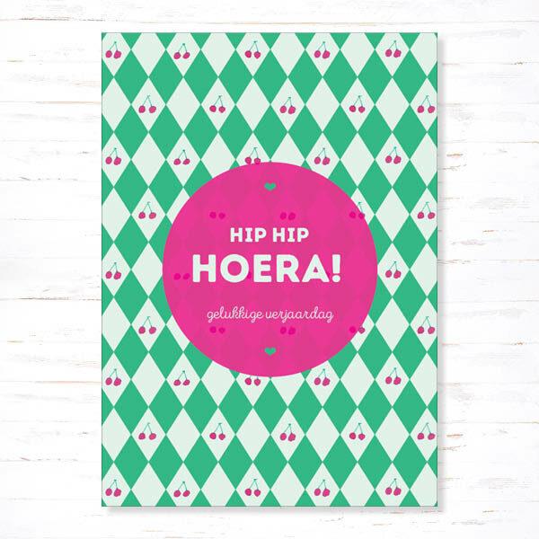 Withloov Postkaart Verjaardag Hip hip hoera