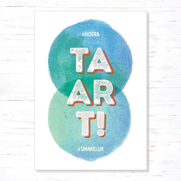 Withloov Postkaart Verjaardag Taart