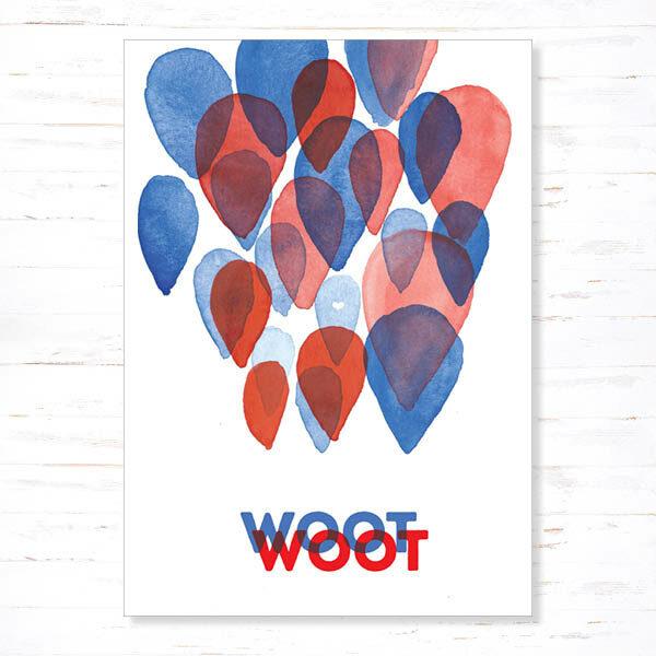 Withloov Postkaart Feest Woot woot