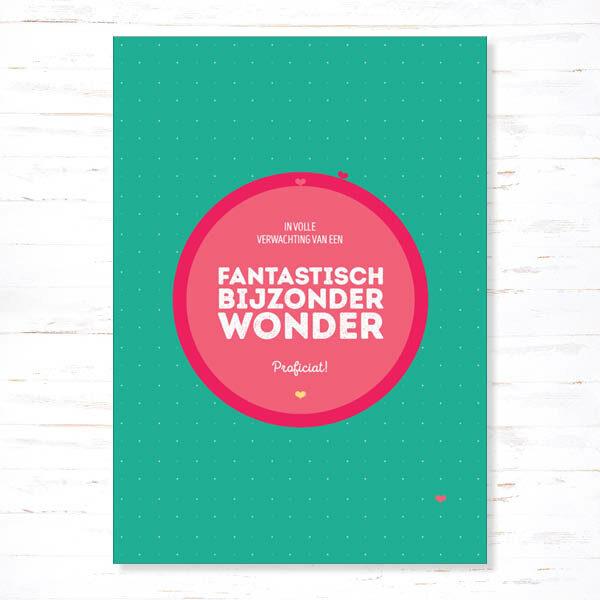 Withloov Postkaart Zwanger Fantastisch bijzonder wonder