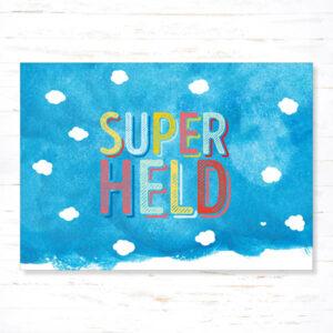 Withloov Postkaart Feest Superheld