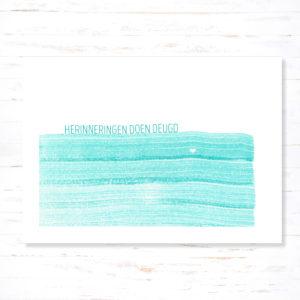 Withloov Postkaart Sterkte Herinneringen doen deugd