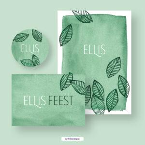 Withloov geboortekaartje vaste collectie Ellis