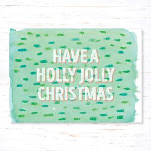 Withloov kerstkaart Holly Jolly