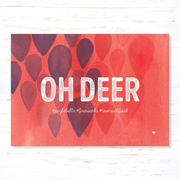 Withloov kerstkaart Oh deer