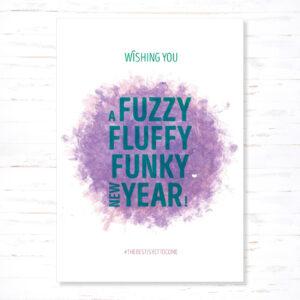 Withloov kerstkaart Fuzzy fluffy
