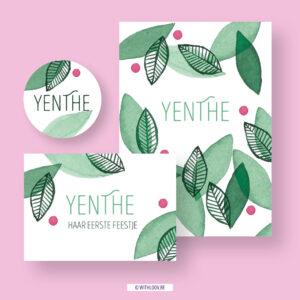 Withloov geboortekaartje Yenthe