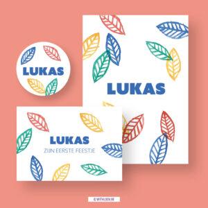 Withloov geboortekaartje Lukas