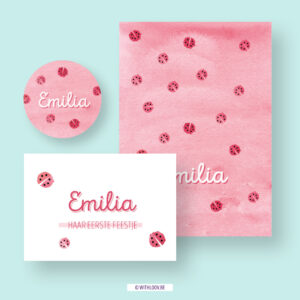 Withloov geboortekaartje Emilia
