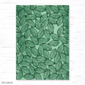 Withloov postkaart botanisch decoratief blaadjes
