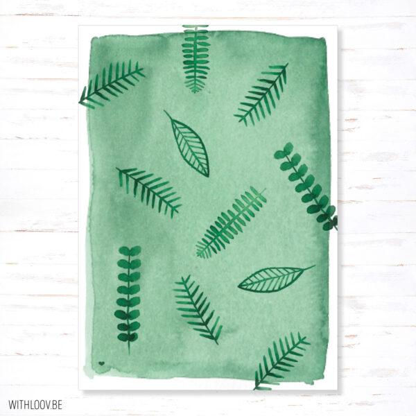Withloov postkaart botanisch