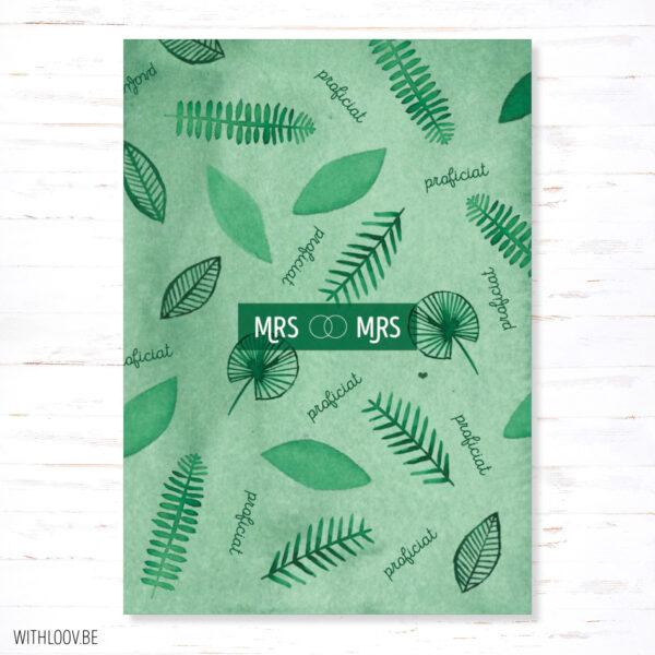 WTH_21_webshop-Withloov postkaart huwelijk mrs & mrs