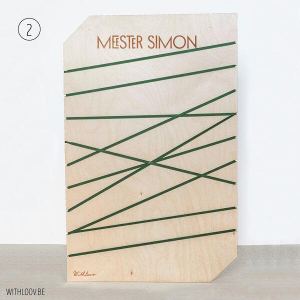 Withloov memory board groot cadeau juf meester