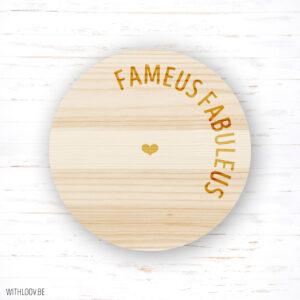 Withloov magneetje fameus fabuleus