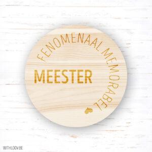 Withloov magneetje fenomenaal memorabel Meester