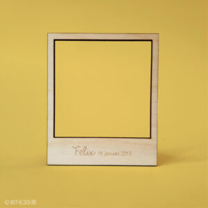 Withloov polaroid magneet Felix en datum