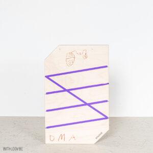 Withloov memory board klein handgeschreven