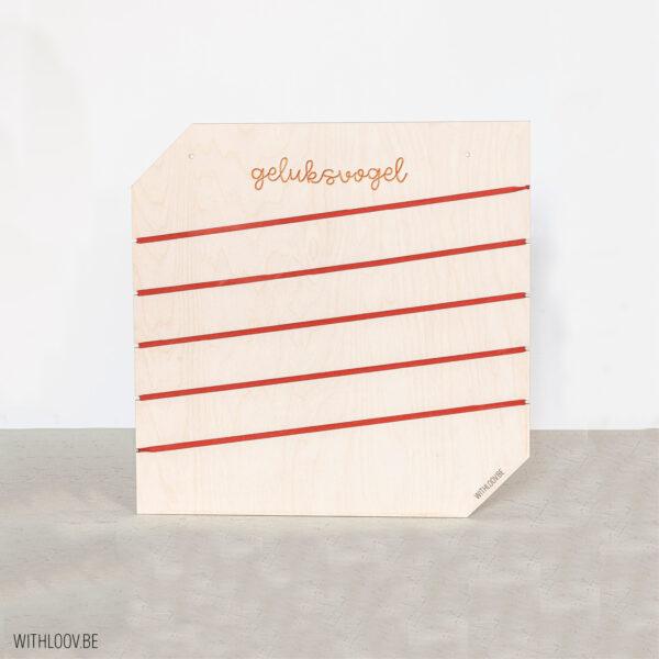 Withloov memory board vierkant geluksvogel