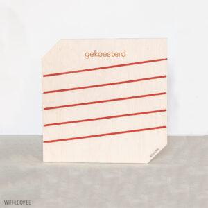 Withloov memory board vierkant gekoesterd