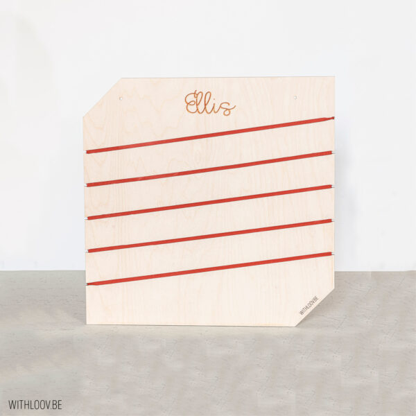 Withloov memory board vierkant naam