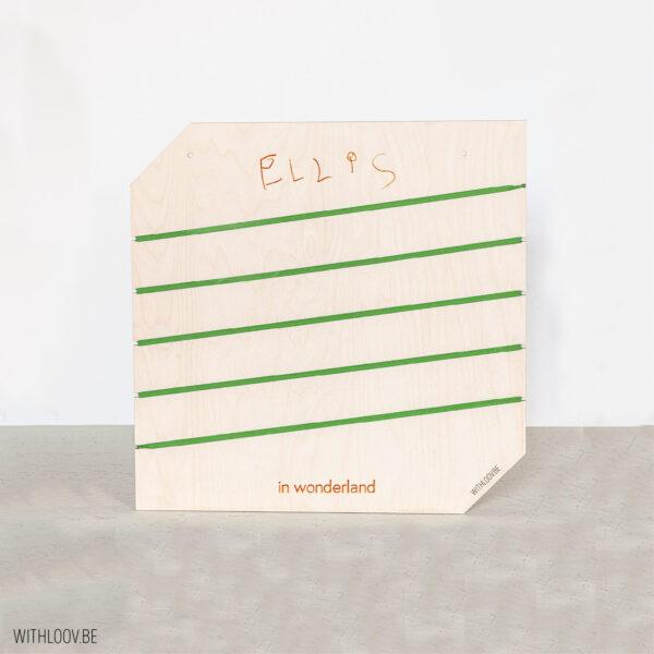 Withloov memory board vierkant handgeschreven
