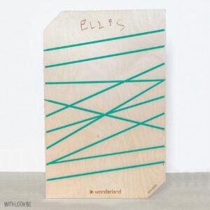 Withloov memory board groot handgeschreven