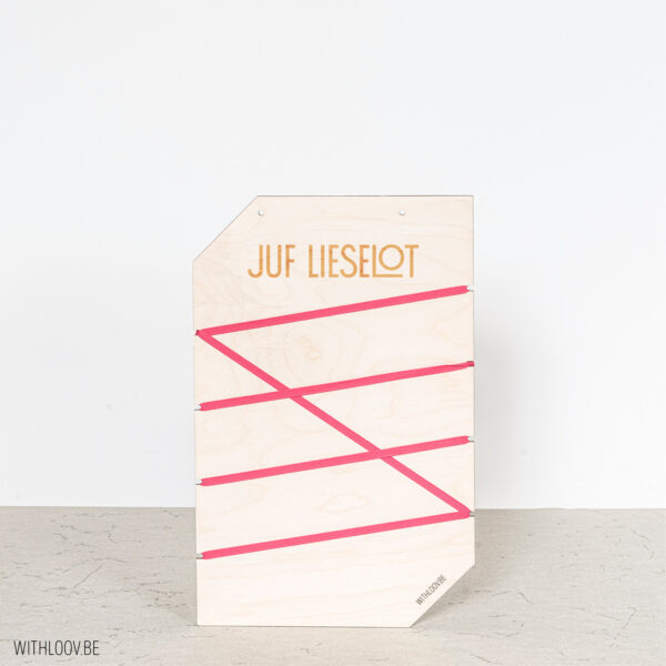 Withloov memory board klein naam juf
